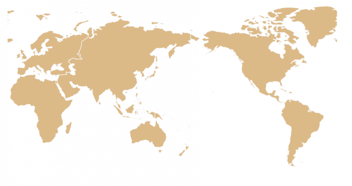 world map centered in asia