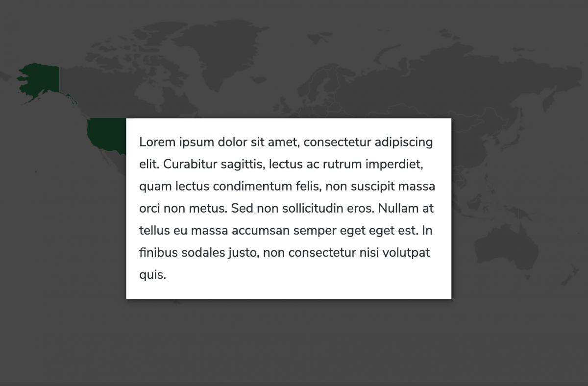 open lightbox on map