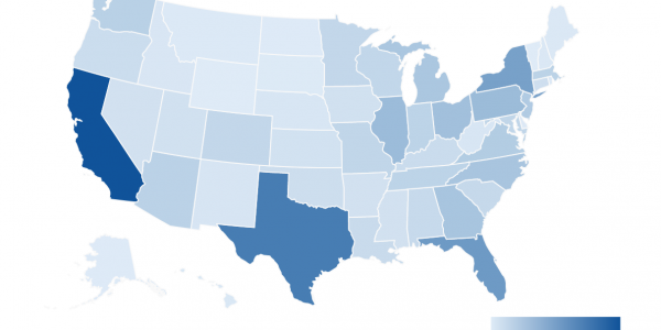 heatmap of US population