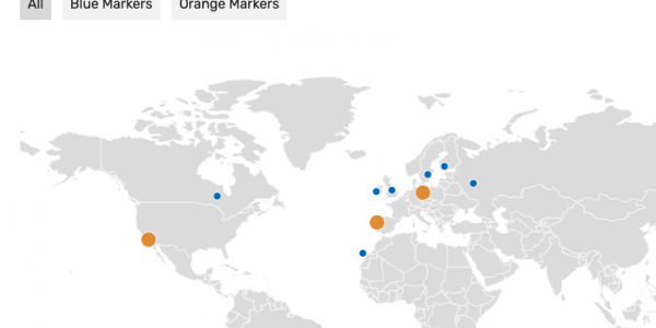 Live filter markers on WordPress Map