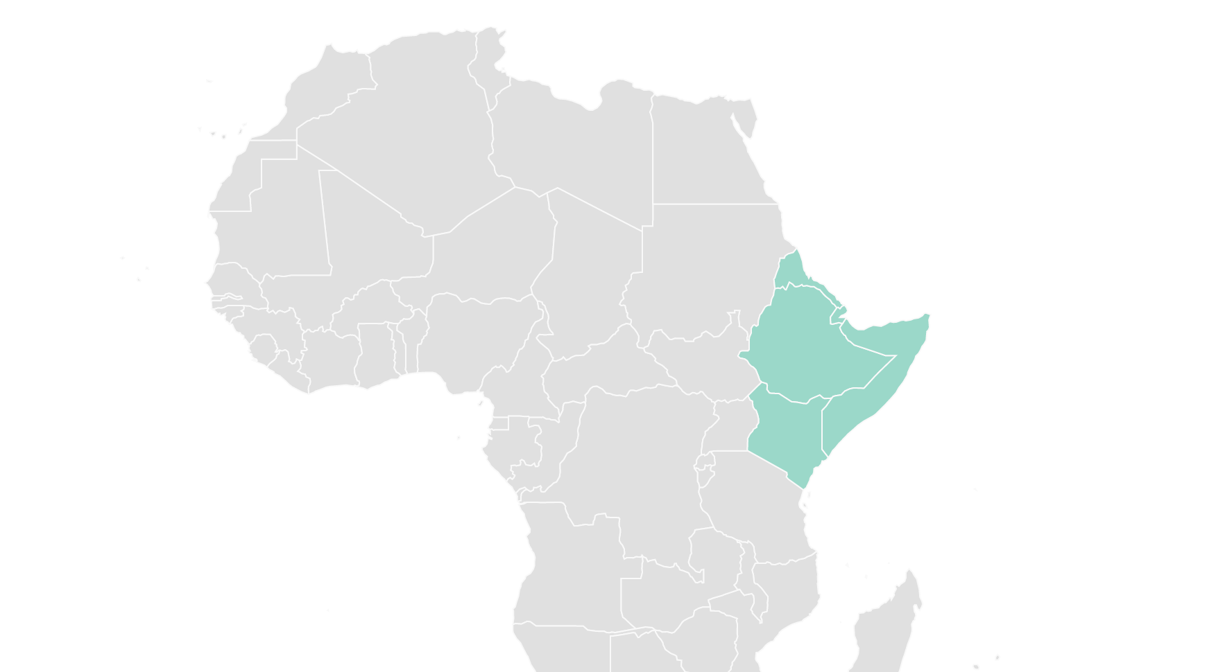 Horn of Africa map for WordPress