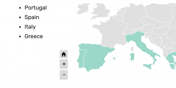 External list of countries
